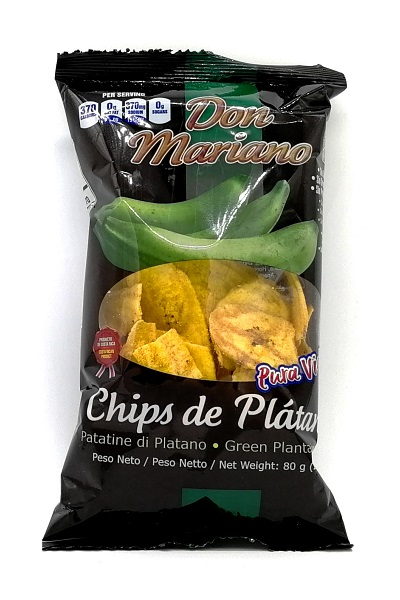 Chips di platano verde salate - Don Mariano 80g.