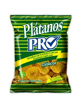 Chips di platano verde salate - PRO 80g.