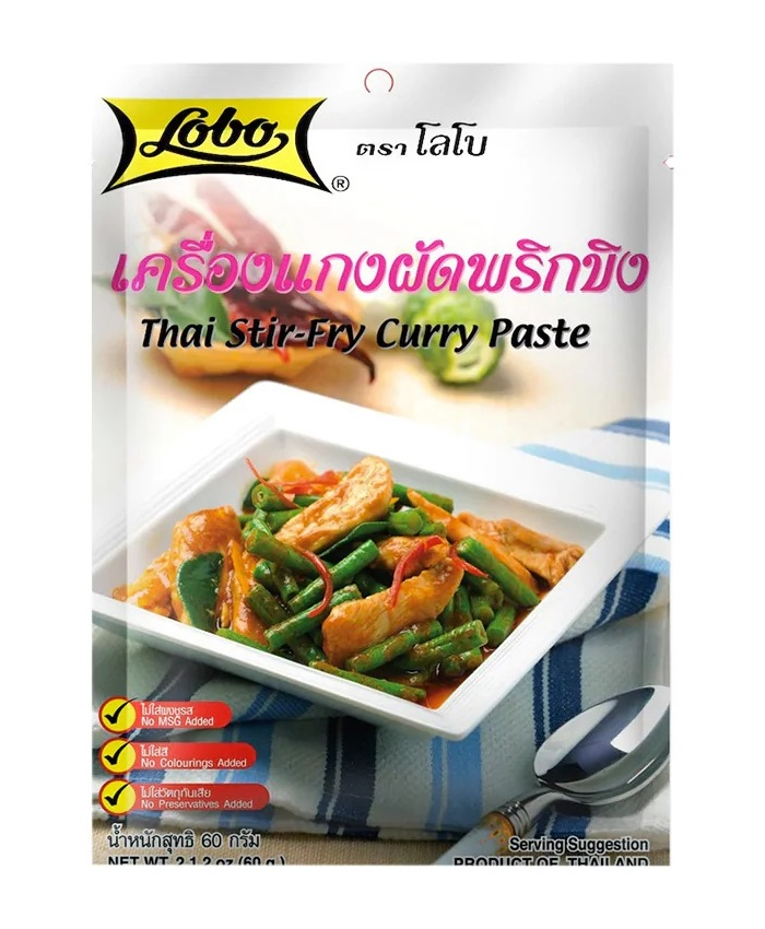 Curry paste per pollo saltato alla thailandese - Lobo 60 g.
