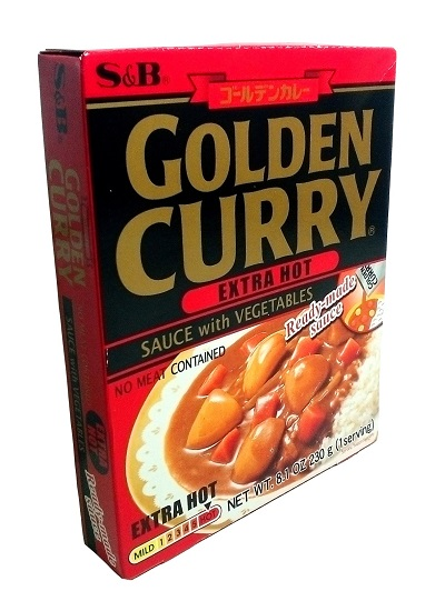 Golden curry con verdure extra-piccante - S&B 230 g.