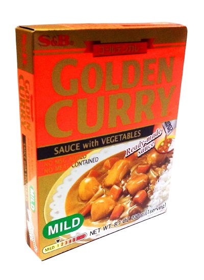 Golden curry con verdure mild - S&B 230 g.