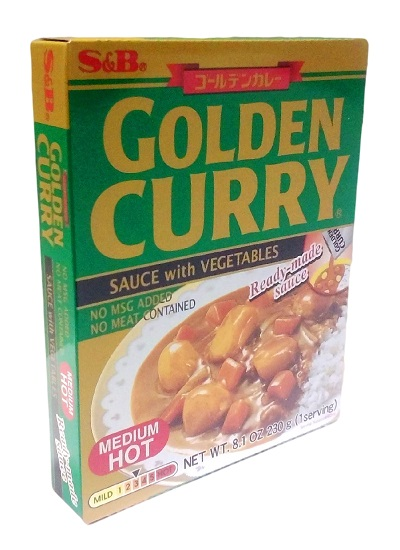 Golden curry con verdure medio-piccante - S&B 230 g.
