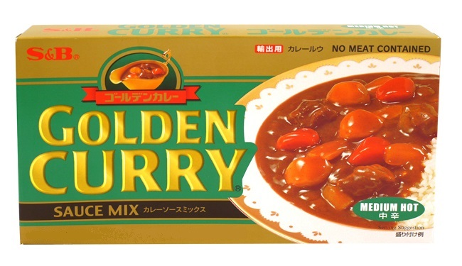 Golden curry in salsa medio-piccante - S&B 220 g.