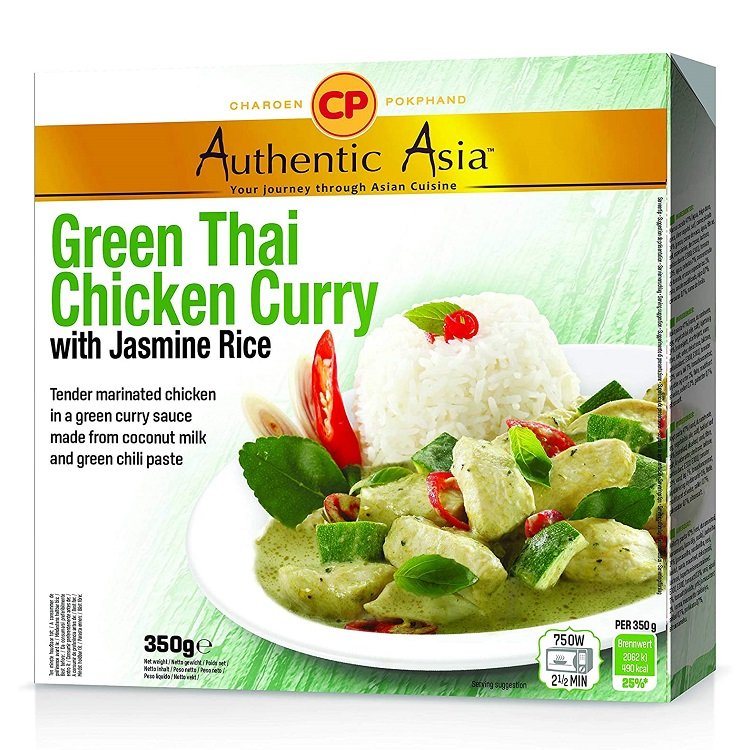 Piatto pronto green curry con pollo e riso jasmine - CP 350g.