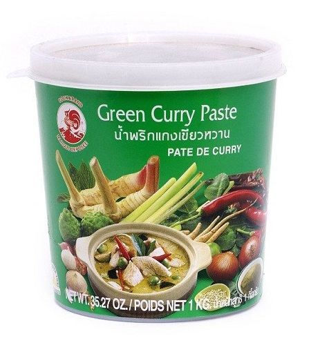 Green curry paste - Cock Brand 1 Kg.