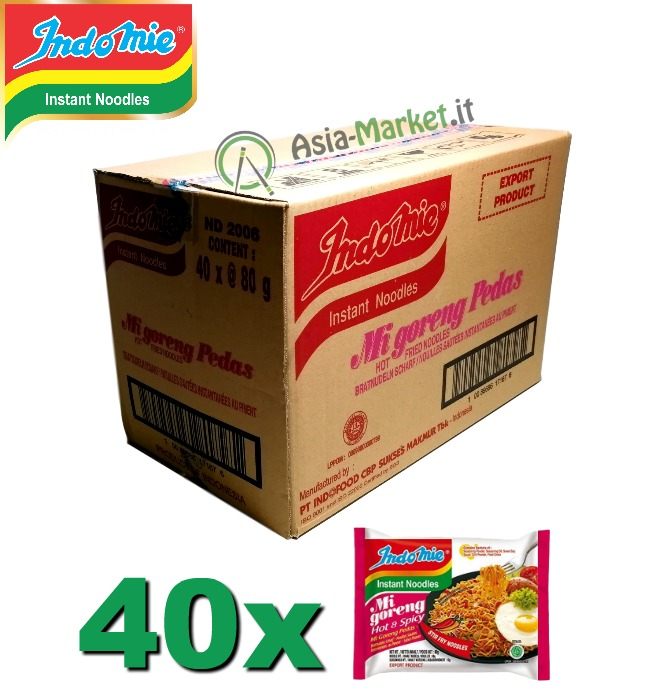 Indomie instant noodles Mi Goreng Hot & Spicy - scatola 40 buste