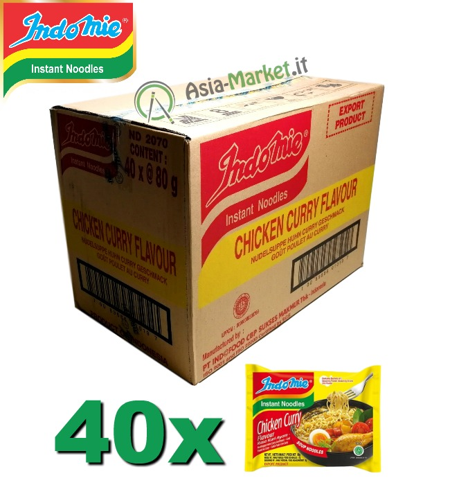 Indomie instant noodles gusto Pollo al Curry - scatola 40 buste