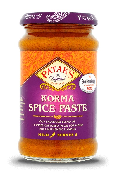 Korma Curry Paste - Patak's 290g.