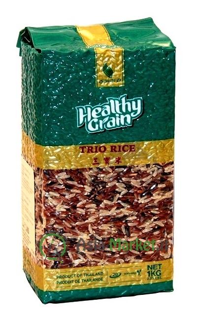 mix di riso thai integrale rosso e glutinoso nero sawat