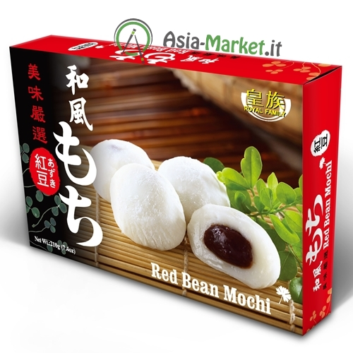 Dolce giapponese Mochi ai fagioli rossi - Royal Family 210g.
