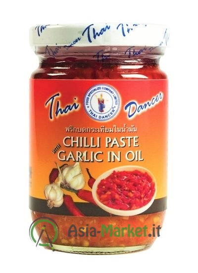 Pasta di chilli in olio con aglio - Thai Dancer 227g.