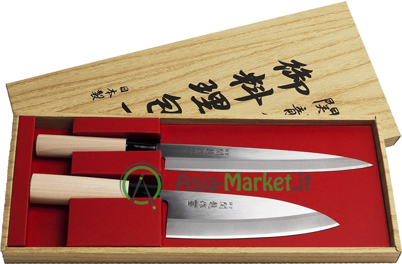 Set 2 coltelli giapponesi sekiryu sashimi deba asia l 39 asia sotto casa - Coltelli giapponesi da cucina ...