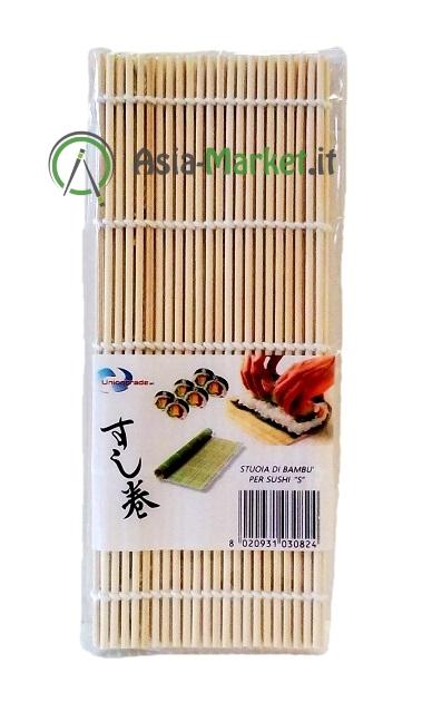 Stuoia di bamb per sushi a cannette rotonde for Cannette di bambu prezzo