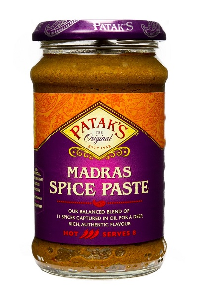 Madras Curry Paste piccante - Patak's 283g.