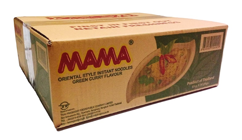 Mama green curry - scatola da 30 bustine