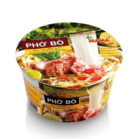 Mama Phò' Bò Bowl noodles di riso gusto vitello - 65 gr.