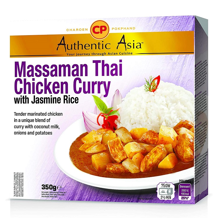 Piatto pronto massaman curry con pollo e riso jasmine - CP 350g.