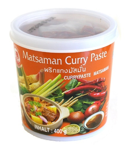 Massaman curry paste - Cock brand 400 gr.