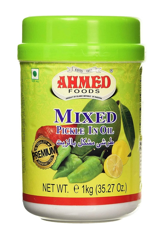 Mixed Pickle con Mango, Lime, Chilli e spezie - Ahmed 1kg.