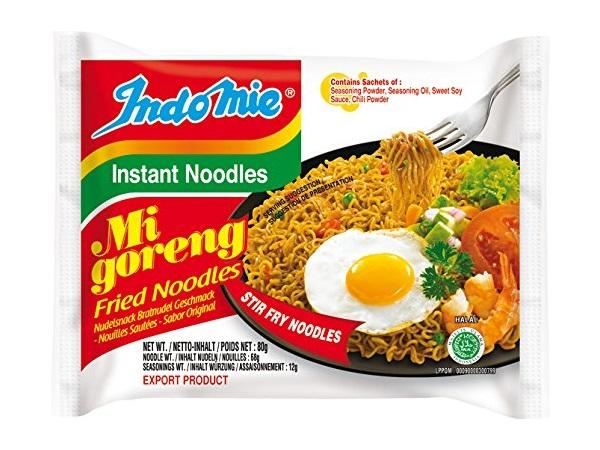 Indomie instant noodles Mi Goreng - 3 buste da 80g.