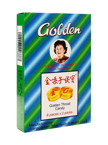 Pastiglie cinesi naturali per la gola - Golden Throat 22.8g.