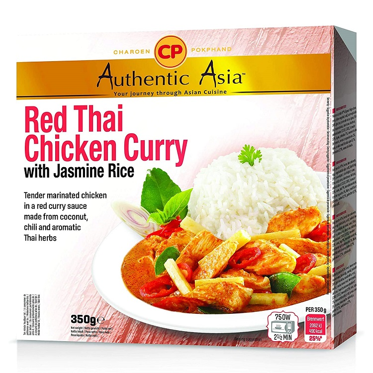Piatto pronto red curry con pollo e riso jasmine - CP 350g.