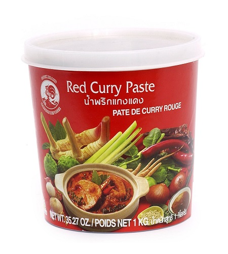 Red curry paste - Cock Brand 1 Kg.