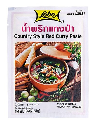 Red curry paste country style - Lobo 50 gr.