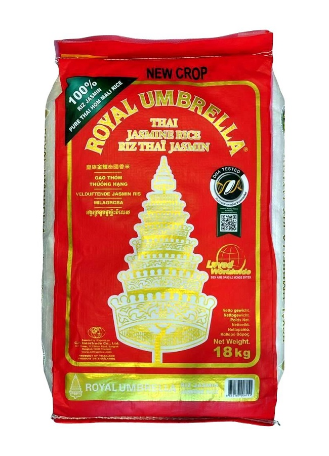Riso thai profumato jasmine - Royal Umbrella 18 Kg.