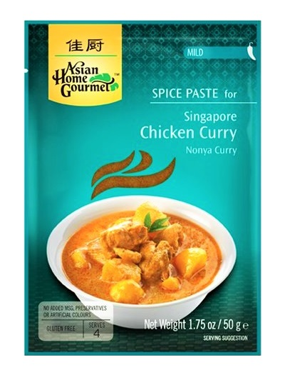 Nonya curry paste per pollo di Singapore - A.H.G. 50g.