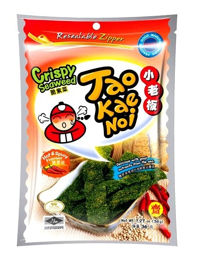 Snack di alghe croccanti gusto Hot and Spicy - Taokaenoi 32 g.