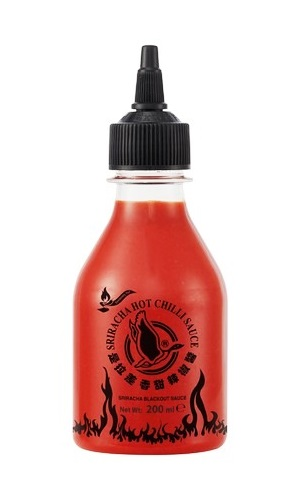 Salsa al peperoncino Sriracha Blackout - Flying Goose 200ml.