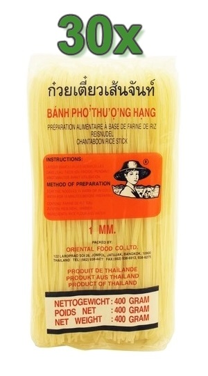 "Tagliatelle di riso ""rice stick"" 1mm. - Farmer Brand 30x400g."