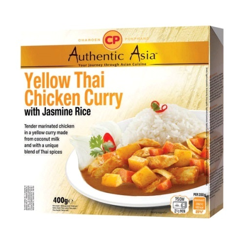 Piatto pronto yellow curry con pollo e riso jasmine - CP 350g.